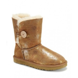 2016 Ugg Femmes Bailey Button Bottes Chrysanthème 5803 Chataignier Vert