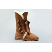 Bottes Ugg Boutique Classic Roxy De Bandage Grand 1005818 Chestnut