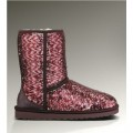 Bottes Ugg Classic Court 1002978 Sparkles Vin Rouge 2017
