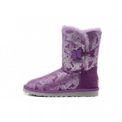 Code Ugg Bailey Button Papillon 1002195 Bottes Violet