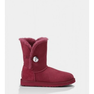Le Meilleur Ugg Bailey Button Bling 3349 Vin Rouge