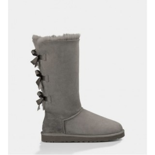 Outlet Ugg Bailey Bow Bottes 1007308 Gris