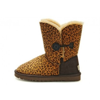 Privee Ugg Bailey Button Bottes Leopard 5803 Brun