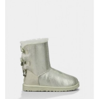 Ugg Bailey Bow Bling Bottes 1004791 Blanc Alsace