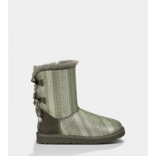 Ugg Bailey Bow Bling Bottes 1004791 Gris