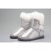Ugg Bailey Button Bottes Paillettes 5803 Gris