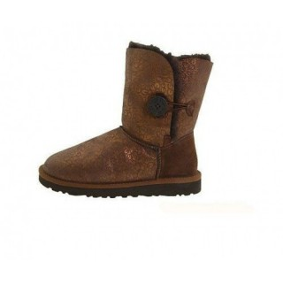 Ugg Bailey Button Fancy Bottes 5809 Chocolat Noir Vendrougei