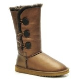 Ugg Bailey Button Triplet Leahter Bottes 1873 Or