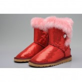 Ugg Bottes Paillettes Bailey Button 5803 Rouge