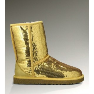 Ugg Boutique Classic Short Sparkles 3161 Bottes Or