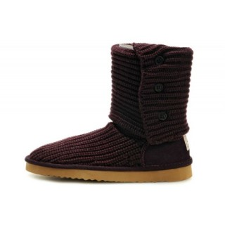 Ugg Cannes Classic Cardy Bottes 5819 Vin Rouge