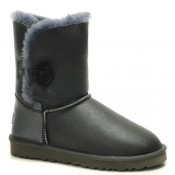 Ugg Classic Leather Bottes Bailey Button 5803 Gris