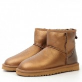 Ugg En Cuir Classic Mini 5854 Or