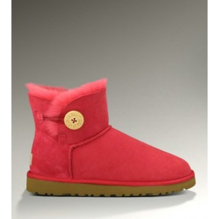 Ugg Femme Mini Bailey Button 3352 Rouge Vert Lundi