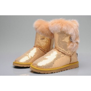 Ugg Femme Privee Paillettes Bailey Button 5803 Or