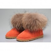Ugg Fourrure De Renard Mini Bottes 5854 D'Orange