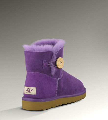 noir Deals UGG Bottes Mini Bailey Button 3352 Violet
