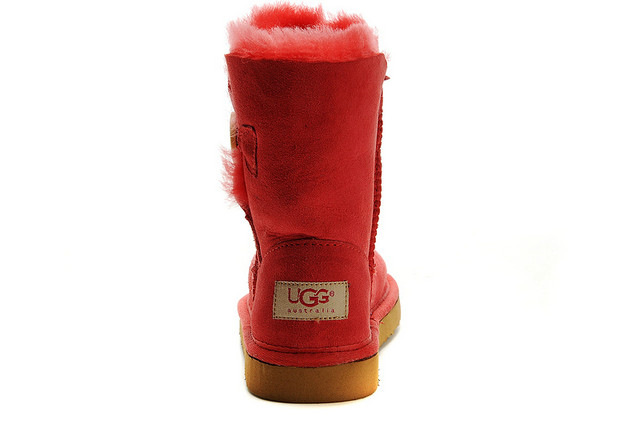 noir Vente UGG Bailey Button Enfants 5991 Rouge