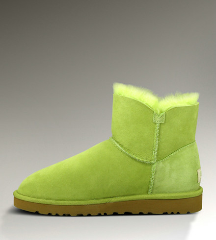 UGG Bottes Mini Bailey Button 3352 Fluorescent vert Outlet USA