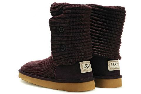 UGG Femmes Classic Cardy Bottes 5819 Vin rouge Outlet Store