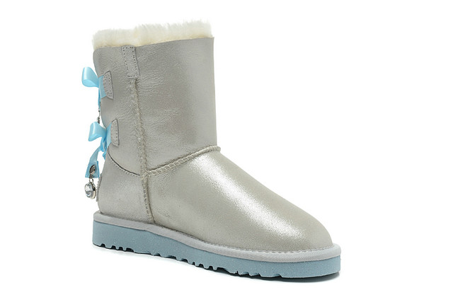 UGG pas cher Bailey Bow Bling I Do! 1004140 Bottes Blanc