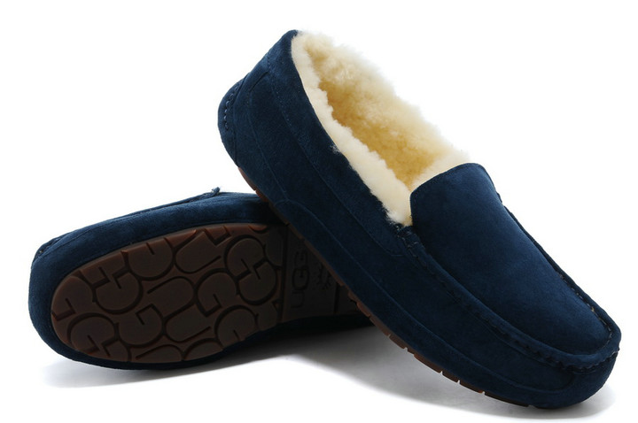 UGG Ascot-Suede 5775 chaussons Navy offres noir