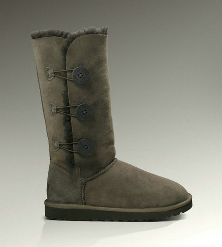 UGG Bailey Button Triplet Bottes 1873 Chocolat Outlet USA