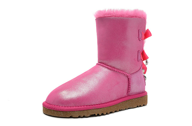 UGG Bailey Bow Bling I Do! Vente 1004140 Bottes Rose en ligne