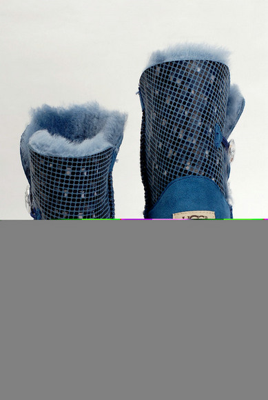 2015 UGG Femmes Mode 3D Bailey Button Bottes 5803 Bleu Outlet USA