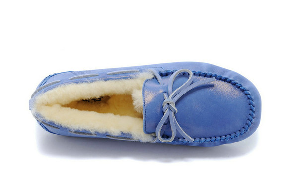 2015 UGG Mocassins 2494 Bleu Outlet Vente