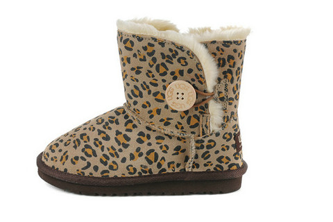 UGG Bailey Button Enfants africaine Leopard 5991 Liquidation