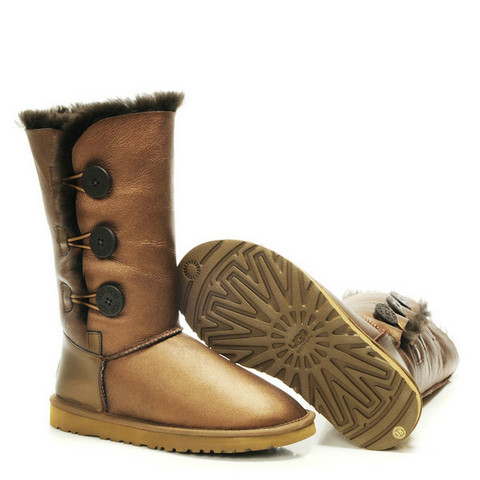 UGG Bailey Button Triplet Leahter Bottes 1873 Or Online