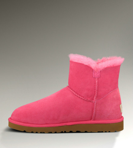 UGG Mini Bailey Button Bottes 3352 Rose