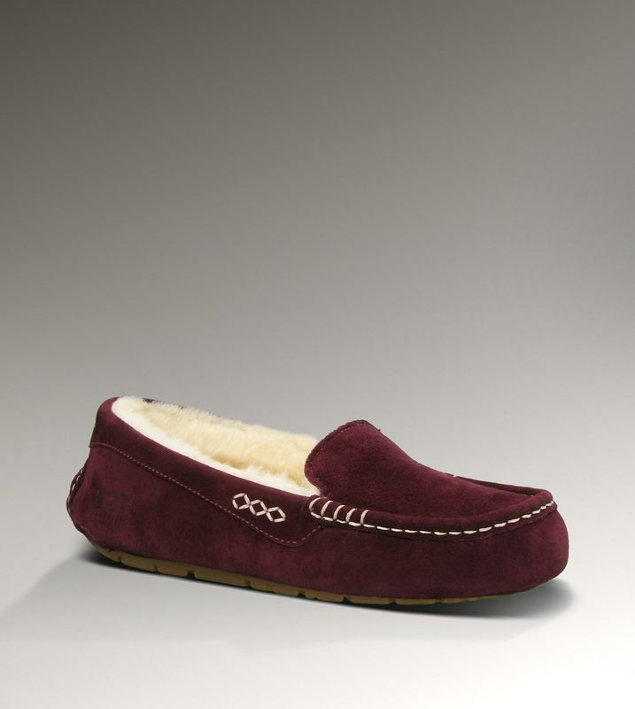 UGG 3312 Ansley chaussons vin rouge pour pas cher