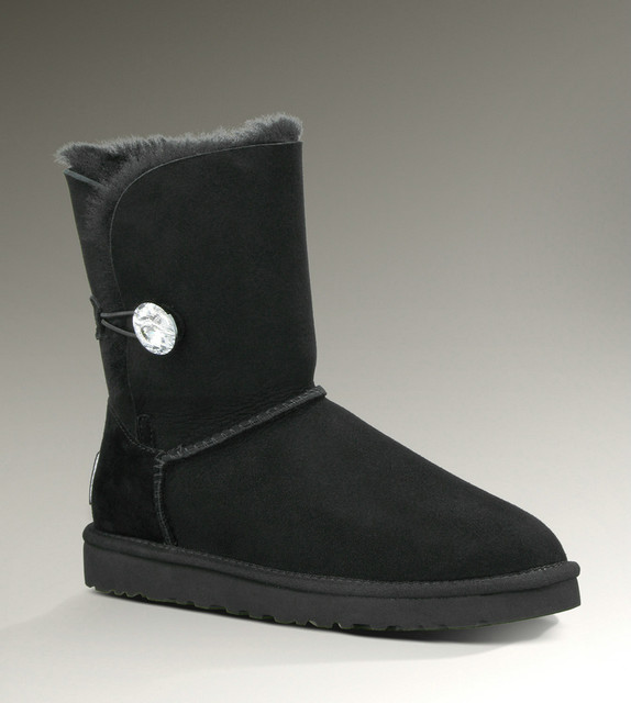 UGG Bailey Button Bling Bottes 3349 Noir Outlet Sale