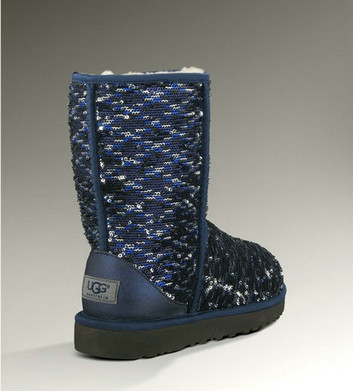 UGG Australia Classic Short Sparkles 1002766 Bottes Marine Outlet Store