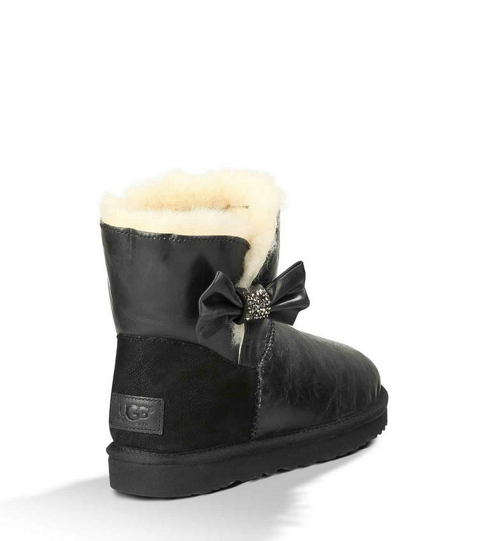 UGG Mini Bailey Bow cristal noir 1004948