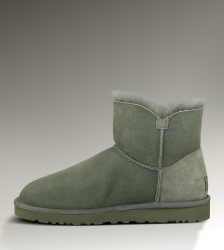 UGG Bottes Mini Bailey Button 3352 Gris Outlet Store